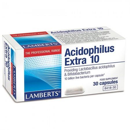 LAMBERTS ACIDOPHILUS EXTRA10(MILK FREE)30CAPS