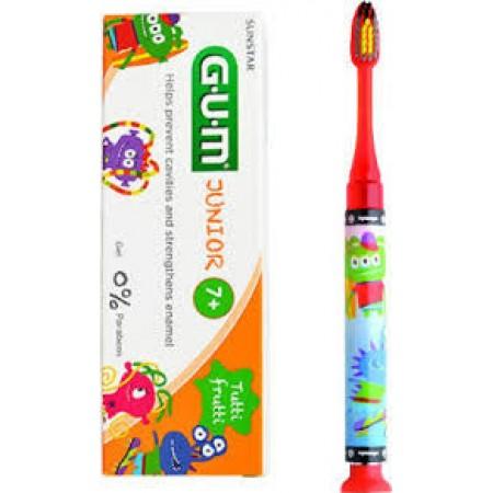 GUM Set Junior Light-Up Red Soft Οδοντόβουρτσα & Junior Οδοντόκρεμα 7-12 Ετών Tutti Frutti 50ml
