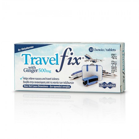 TRAVEL FIX WITH GINGER 500MG 10TABS