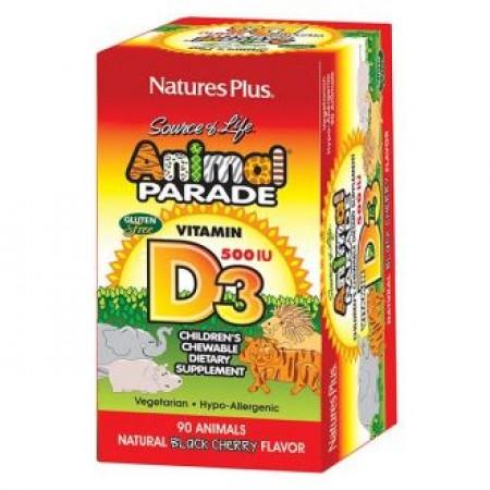 NATURE`S PLUS ANIMAL PARADE VITAMIN D3 90 TABS