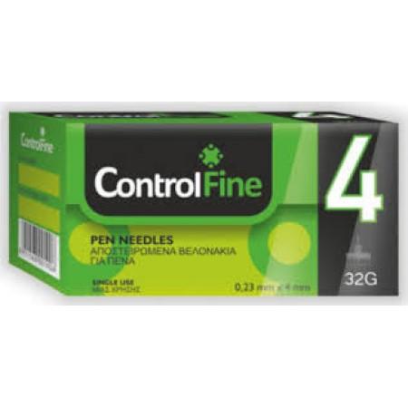 CONTROL FINE  PEN NEEDLES 4 MM  32G  100 PCS