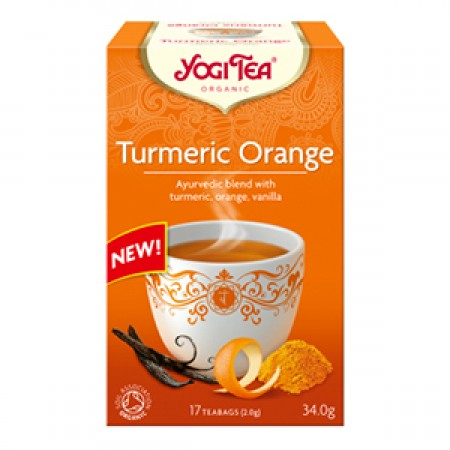ΒΙΟ-ΥΓΕΙΑ YOGI TEA TURMERIC ORANGE X17 TEA BAGS 32,3g
