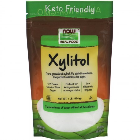 NOW XYLITOL PURE 1 LB (454 GR)