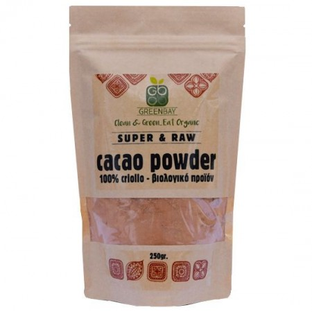 GREENBAY  ΒΙΟΛΟΓΙΚΟ CACAO POWDER 100% CRIOLO 250 gr