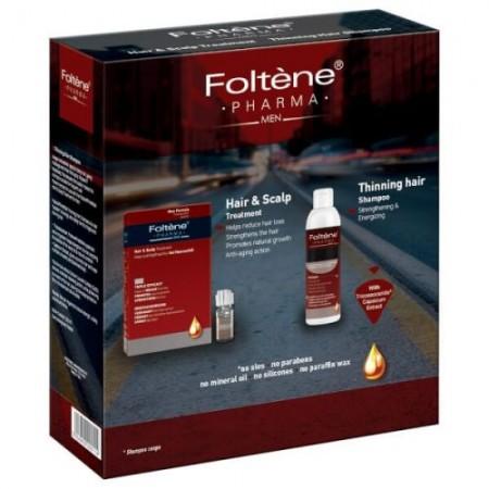 FOLTENE PHARMA HAIR AND SCALP TREATMENT 100ML & THINNING HAIR SHAMPOO MEN 200 ML