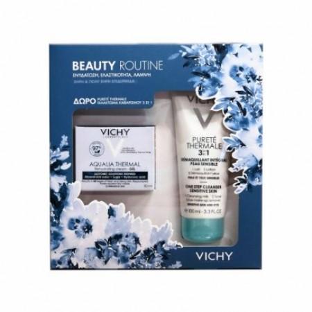 Vichy Beauty Routine Aqualia Thermal Cream για Ξηρές Επιδερμίδες 50ml & Purete Thermale Καθαριστικό