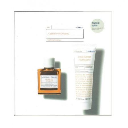 KORRES CASHMERE KUMQUAT EAU DE TOILETTE 50ML & BODY MILK CASHMERE KUMQUAT 125ML PROMO BOX