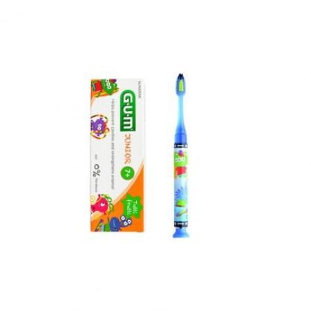 Gum Promo Kids Light-Up Παιδική Οδοντόβουρτσα Μπλε 903 & Toothpaste Παιδική Οδοντόκρεμα 7+ετών 50ml