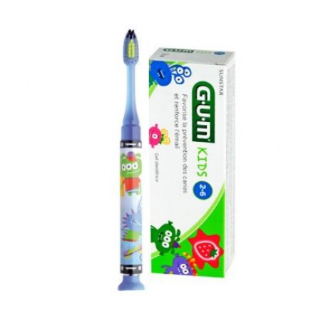 Gum Promo 903 Junior Light-up ΜΠΛΕ Οδοντόβουρτσα & Δώρο Οδοντόκρεμα 2-6 years
