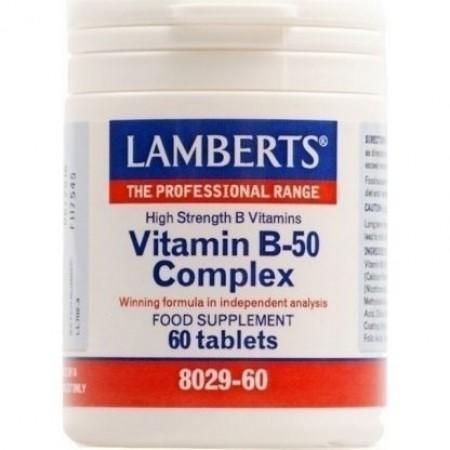 LAMBERTS VIT Β-50 COMPLEX 60TABS