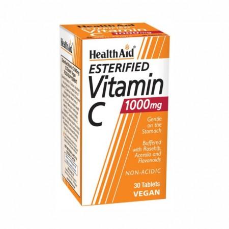 HEALTH AID ESTERIFIED VITAMIN C 1gr 30tabs