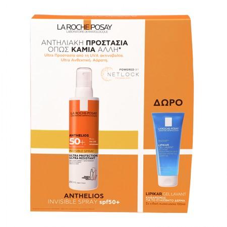 LA ROCHE POSAY Anthelios Αντηλιακό Ultra Light Spray SPF50+ 200ml+Lipikar Gel Lavant 100ml/ 2021