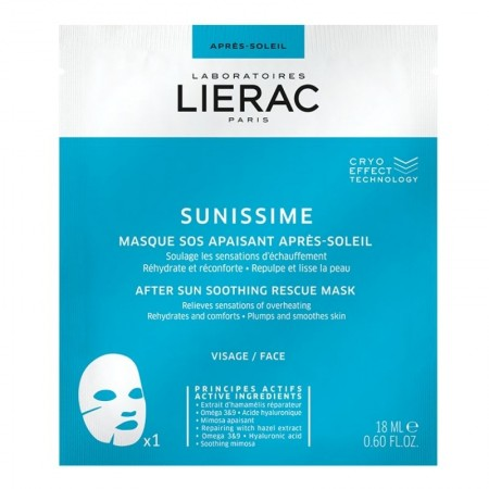 LIERAC SUNISSIME APRES MASQUE SOS FACE SHEET 20ML