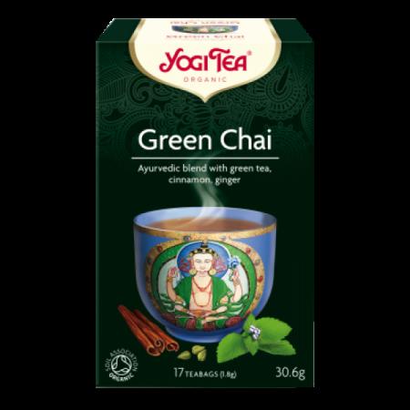 ΒΙΟ-ΥΓΕΙΑ YOGI TEA GREEN CHAI X17 TEA BAGS 30,6g