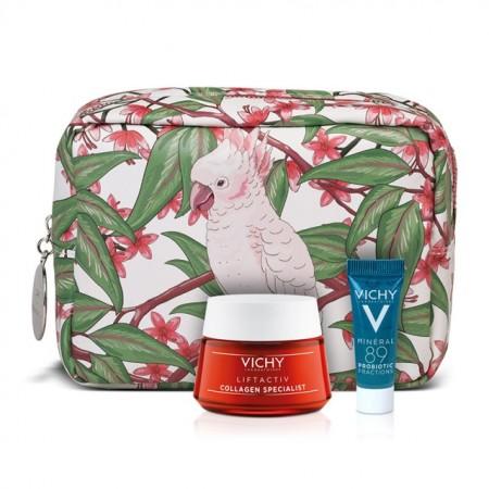 Vichy Liftactiv Collagen Specialist Face Cream 50ml & Mineral 89 Probiotic 5ml