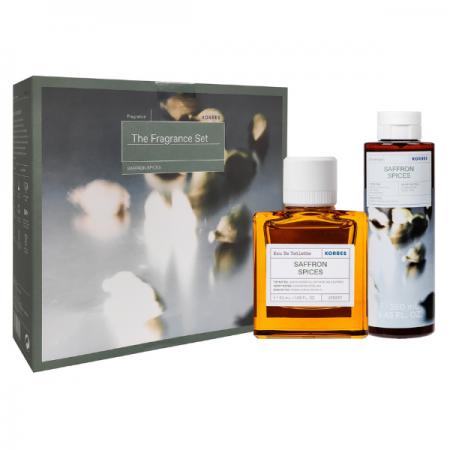Korres Saffron Spices Eau De Toilette 50ml & Showergel 250ml