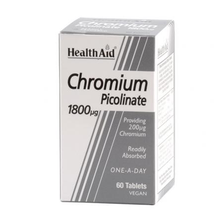 HEALTH AID CHROMIUM PICOLINATE 1800μg 60TB