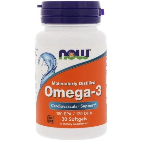 NOW OMEGA-3 1000 mg - 30 Softgels