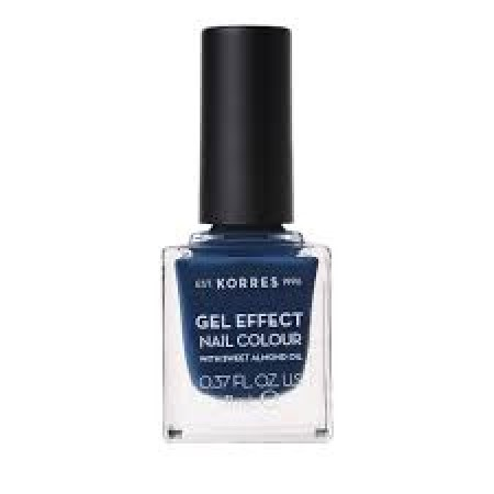KORRES SWEET ALMOND NAIL COLOUR 84 IND BLUE 11ML