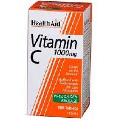 HEALTH AID VITAMIN C 1gr 100TABS - ECONOMY